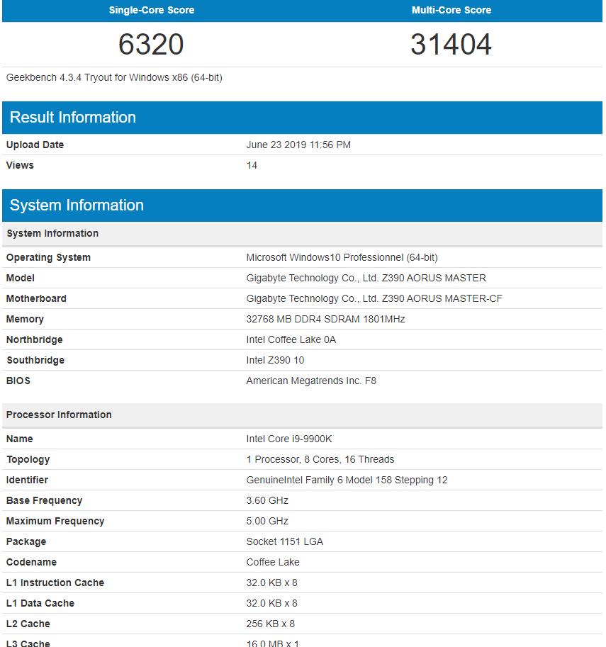 AMD Ryzen 5 3600 looks to beat the Intel Core i9-9900K in Geekbench