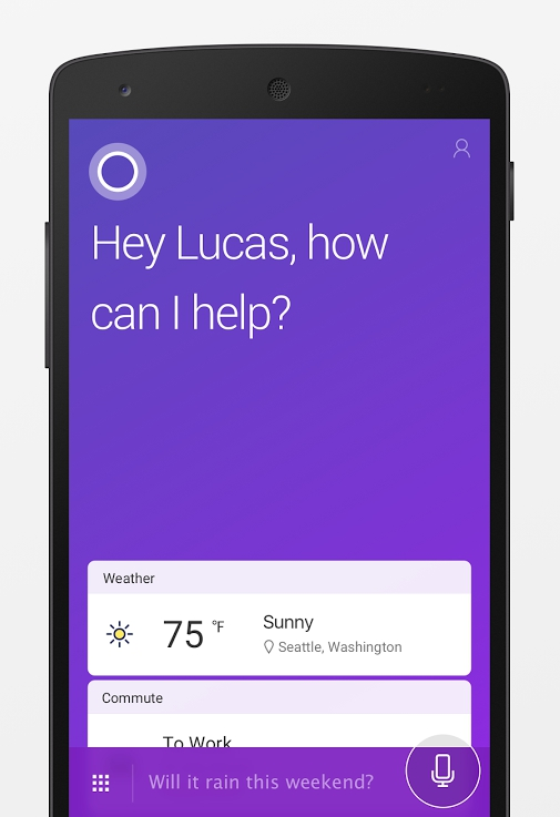You can now talk to Cortana from your Android lock screen
