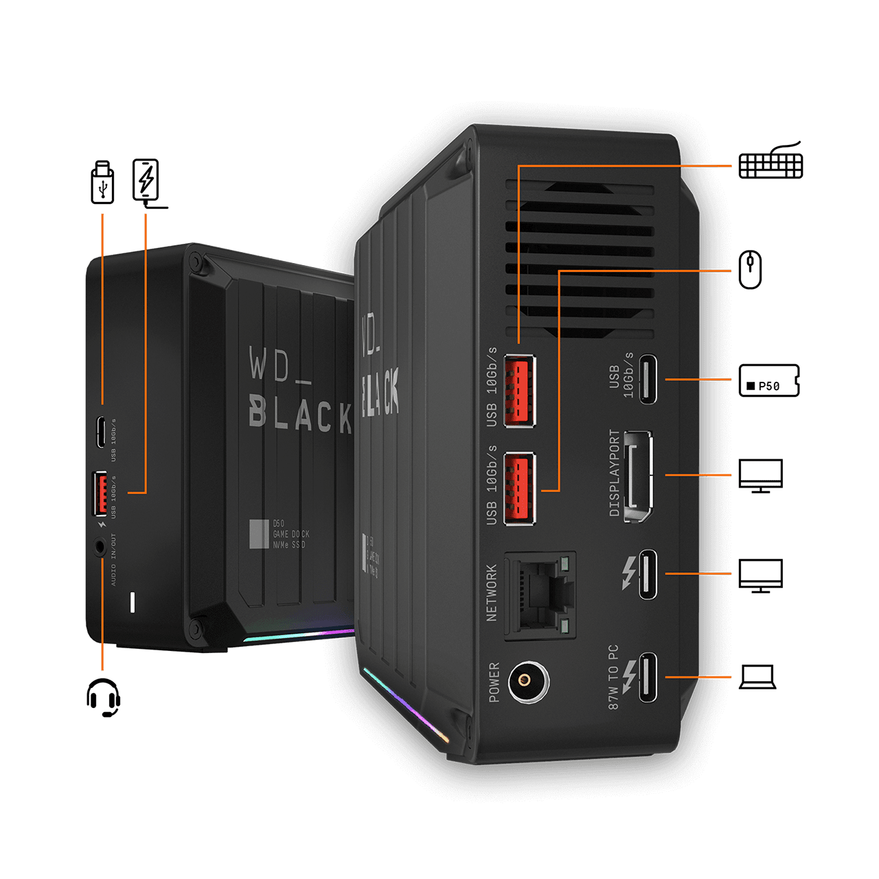 Western Digital D50 Game NVMe docking station is a great way to utilize that Thunderbolt 3 port
