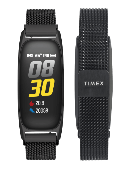 The new Timex Fitness Band in both color options. (Source: Timex)
