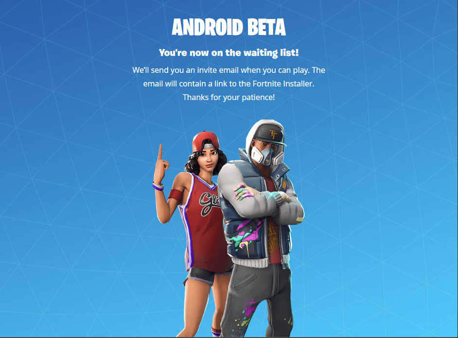 Fortnite Mobile for Android beta invitation now open to non