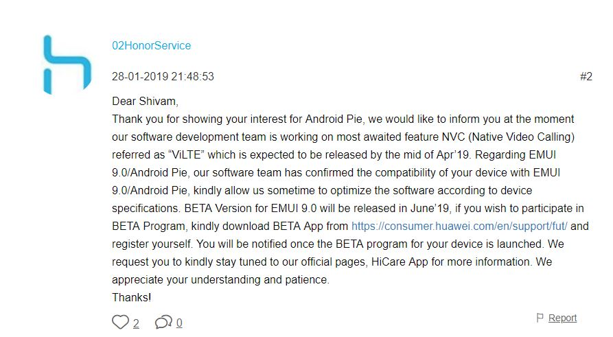 The Honor 7X could get Android Pie after all - its second