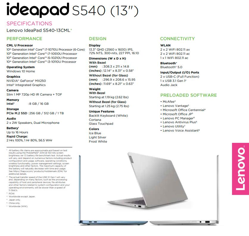 Lenovo introduces the 13-inch IdeaPad S540 with a QHD