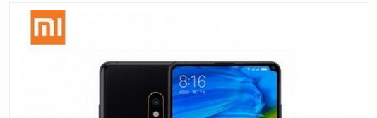 Xiaomi's Mi Mix 2S has a tiny camera notch at the top right corner of the display.