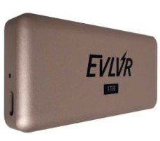 "The EVLVR external SSD comes with a metallic ""candybar"" form-factor case with rounded edges. (Source: Patriot)"