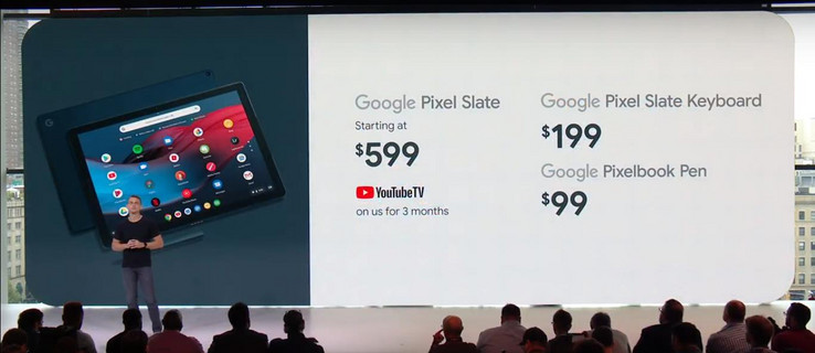 The pricing structure for the Pixel Slate and its accessories. (Source: Google)
