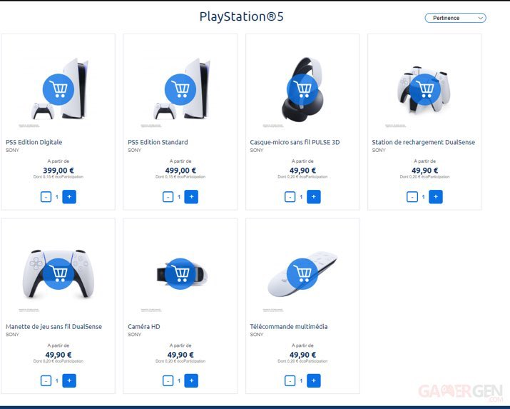 Alleged PS5 price placeholders. (Image source: GamerGen via @geronimo_73)