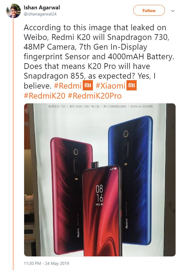 More Details Of The Redmi K20 Revealed In New Leak Notebookcheck