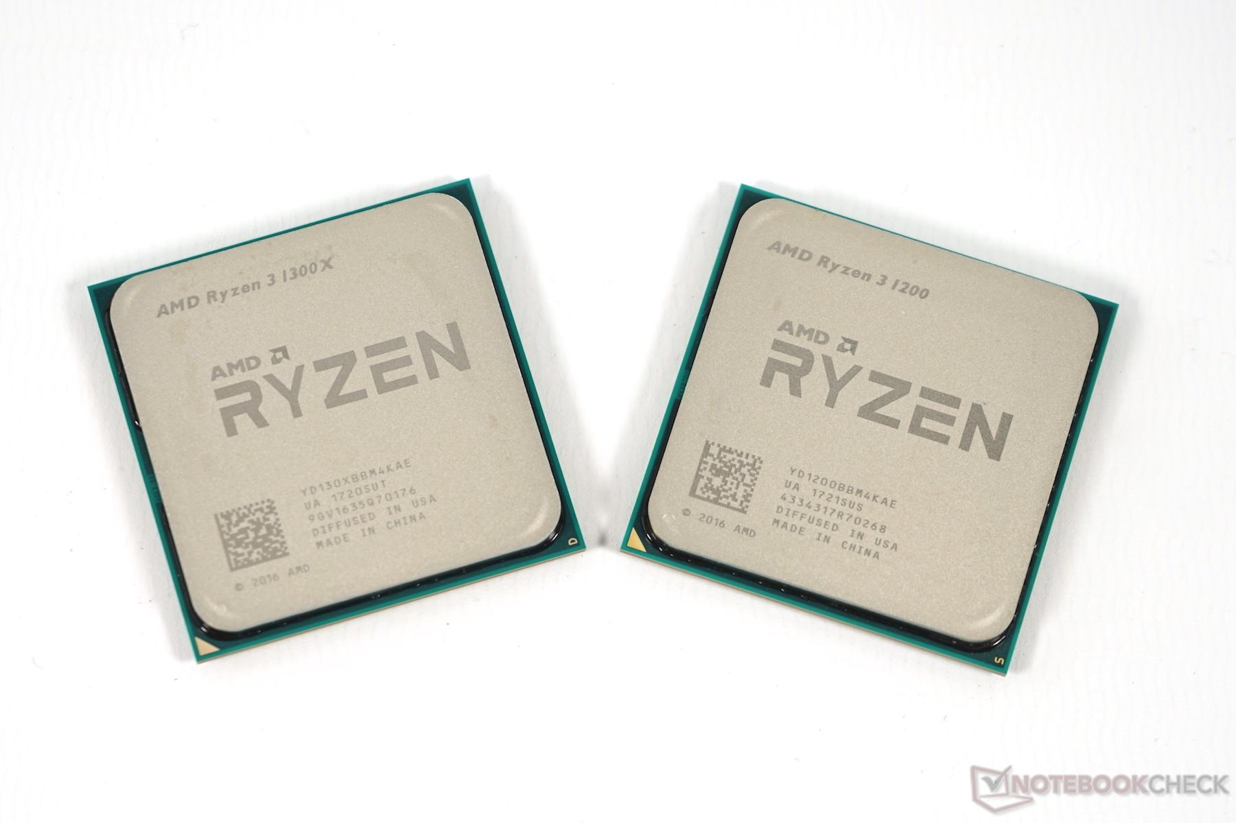 Ryzen 3 Review: 1200 and 1300X for Desktop PCs - NotebookCheck.net Reviews