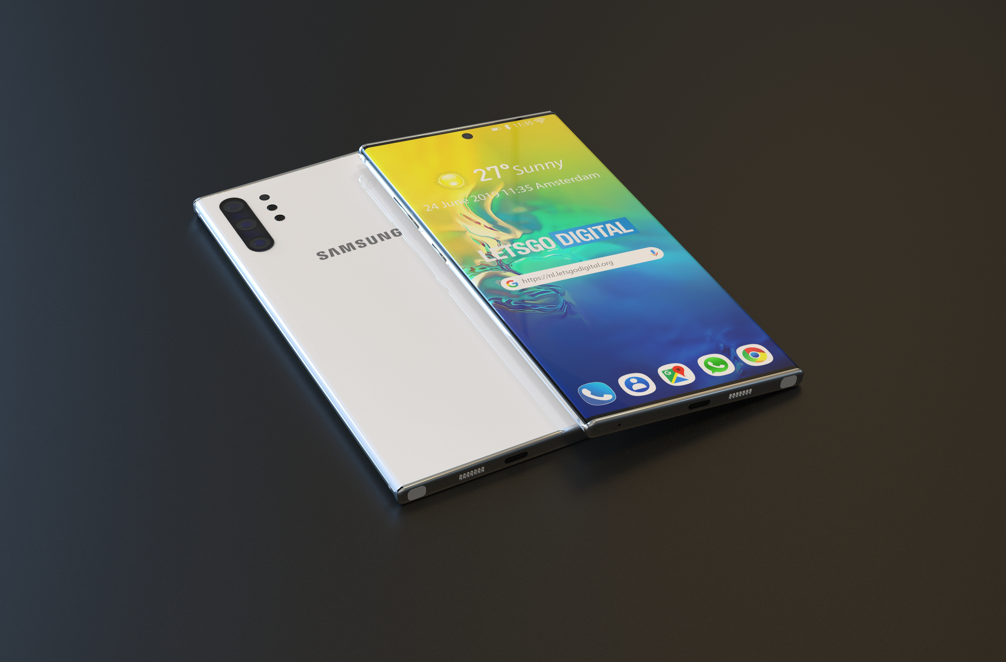 New Samsung Galaxy Note 10 5g Renders Point To A Stunning