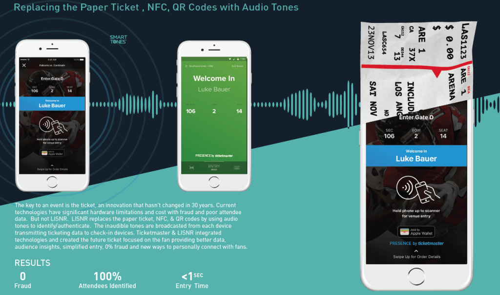 Audio data to replace paper tickets and cut queues