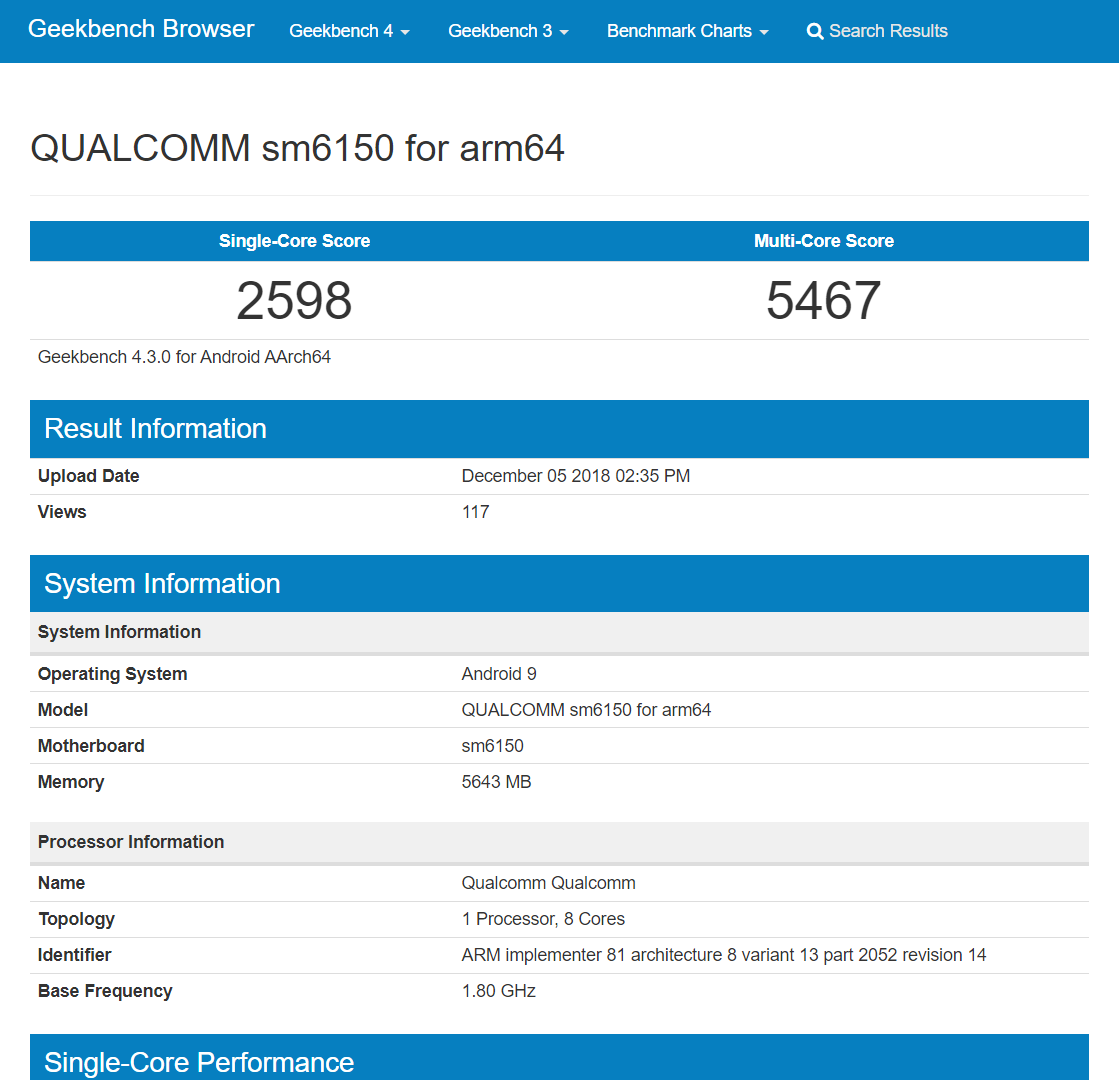 Snapdragon 6150 pops up on Geekbench, shaping up to be a