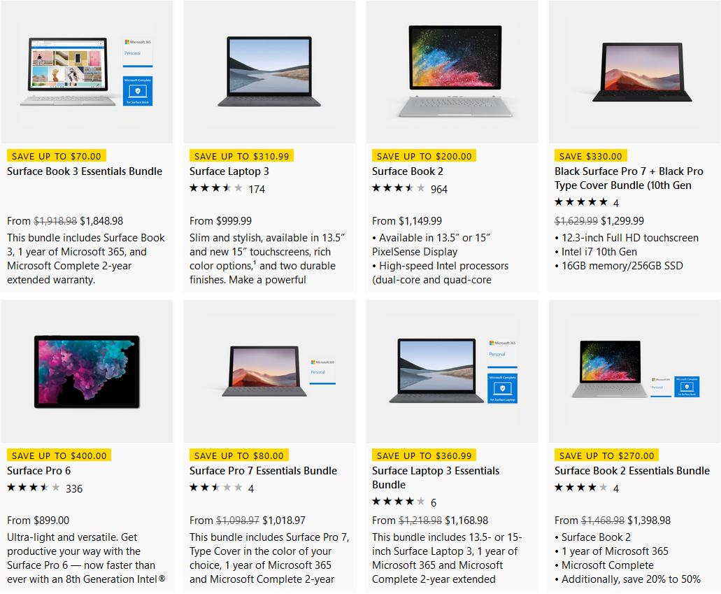 Hot Microsoft Surface Deals Up To Us 400 Off The Surface Pro 6 And Save Up To Us 360 99 On A Surface Laptop 3 Bundle Or Us 330 On A Surface Pro 7 Bundle Notebookcheck Net News