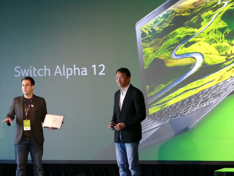 Acer unveils Switch Alpha 12 2-in-1 with liquid cooling ...