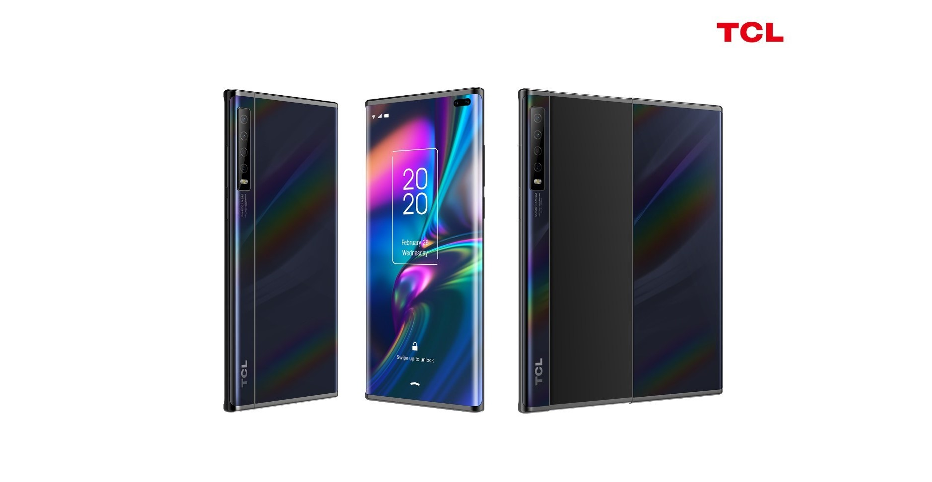 Image of article 'TCL's rollable phone now exists as a concept device, as does its tri-folding tablet'