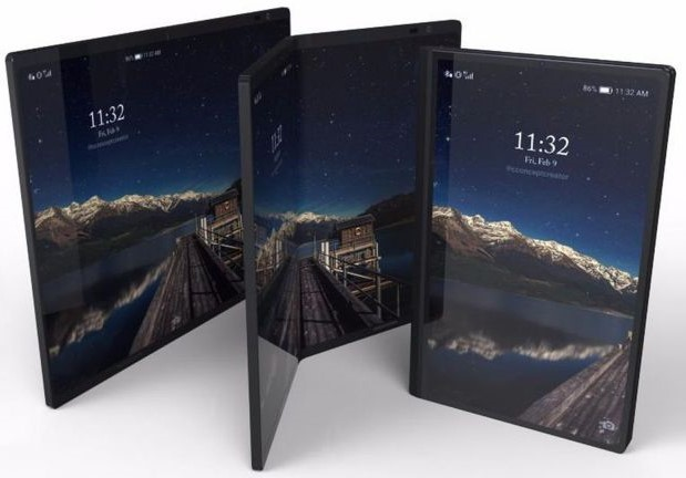 The Galaxy X phone is rumored to integrate a 7.3-inch display that measures 4.5-inch when folded