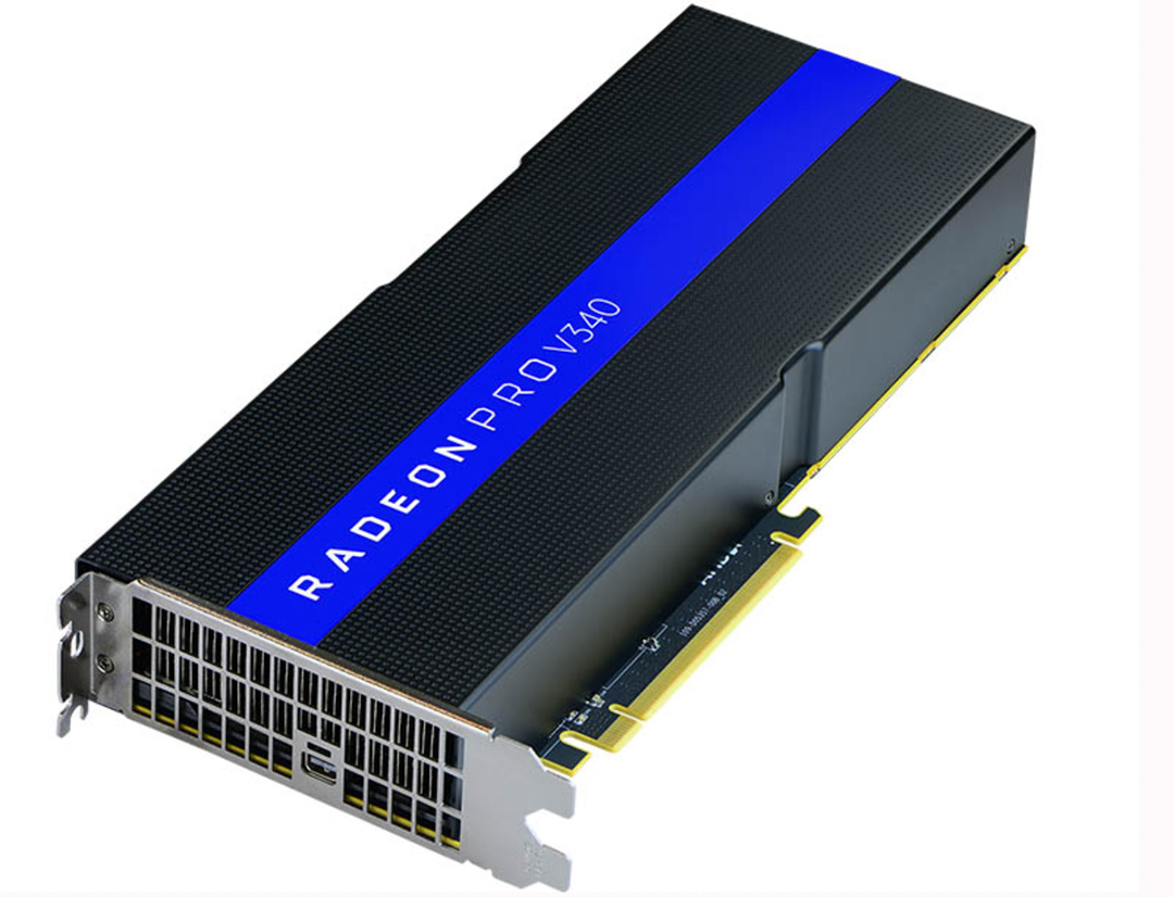 AMD announces the Radeon Pro V340 GPU with 32 GB HBM2 VRAM for VDI