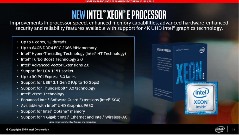Intel's Xeon E-2100 CPUs aim to offer a compelling choice