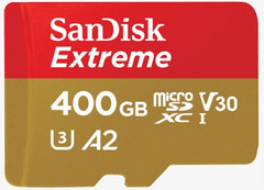 SanDisk's new 400 GB MicroSD is the fastest yet. (Image: SanDisk)