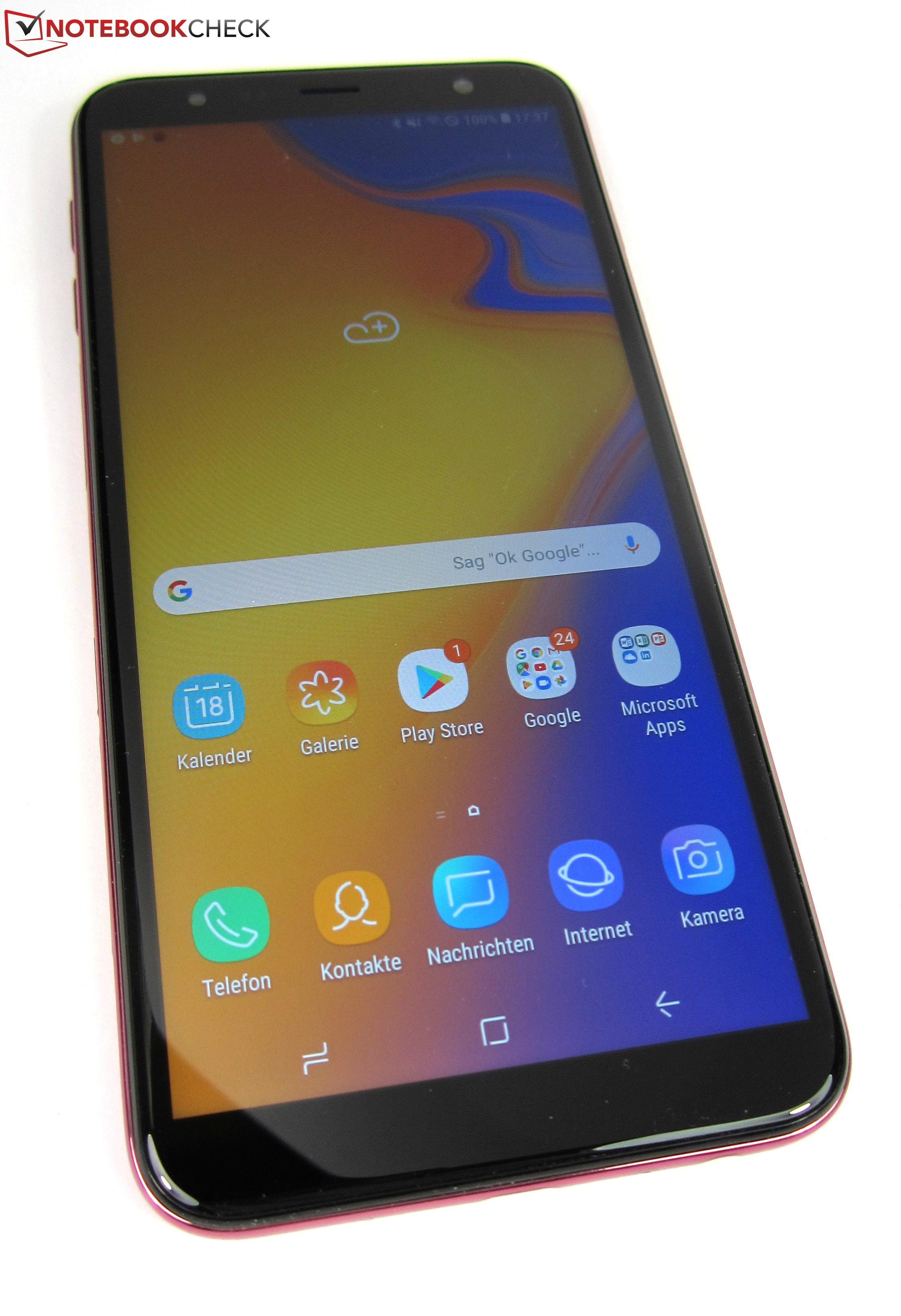 65ccc7382ca Samsung Galaxy J4 Plus (2018) Smartphone Review - NotebookCheck.net ...