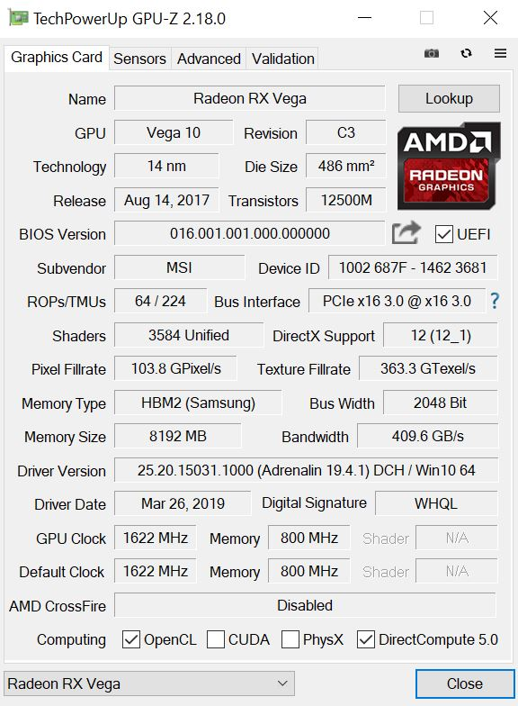 Msi Amd Radeon Rx Vega 56 Air Boost Oc Edition Review Notebookcheck Net Reviews