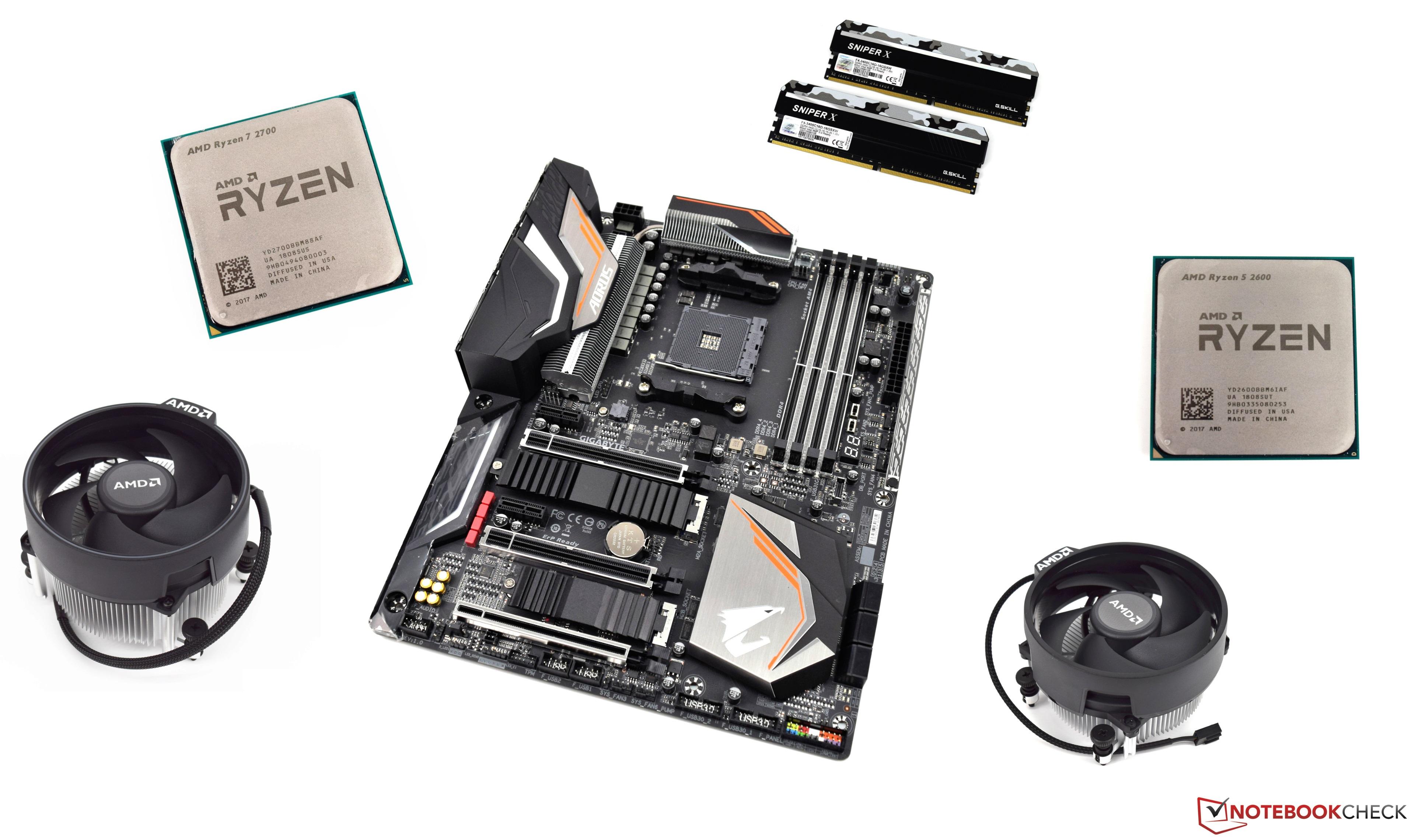 Ryzen 5 2600 and Ryzen 7 2700 Review - NotebookCheck net Reviews