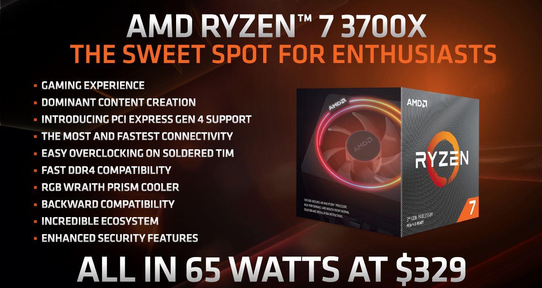 AMD Ryzen 7 3700X Desktop CPU Review: A frugal 8 core and 16