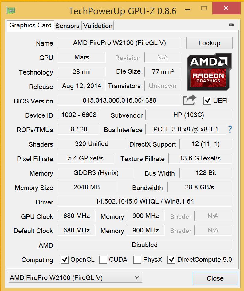 DRIVERS UPDATE: AMD FIREPRO W4100 (FIREGL V) GRAPHICS ADAPTER