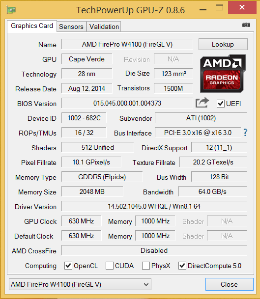 Amd Firepro W2100 And Firepro W4100 Review Notebookcheck Net Reviews