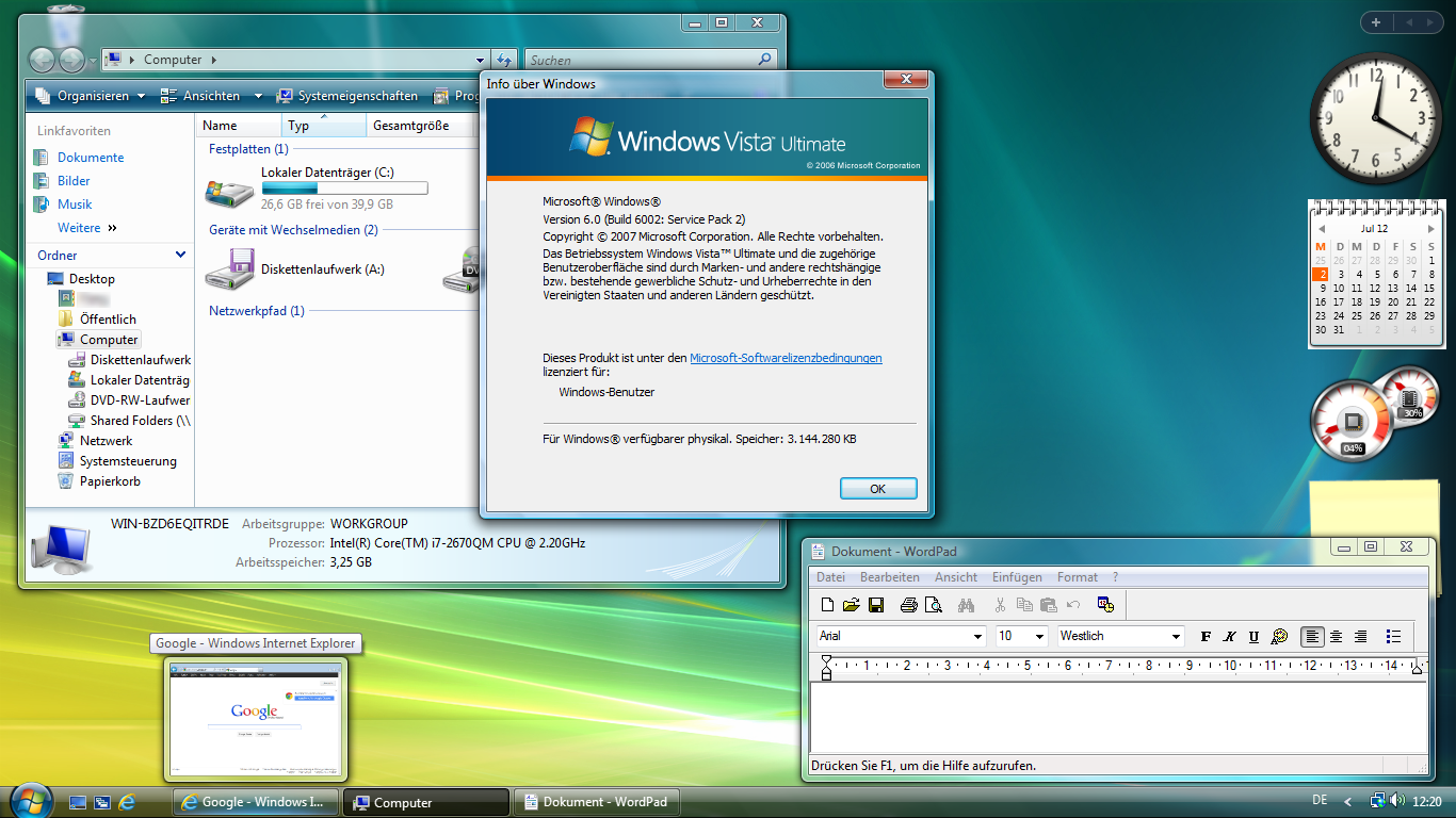 how to delete everything on windows vista