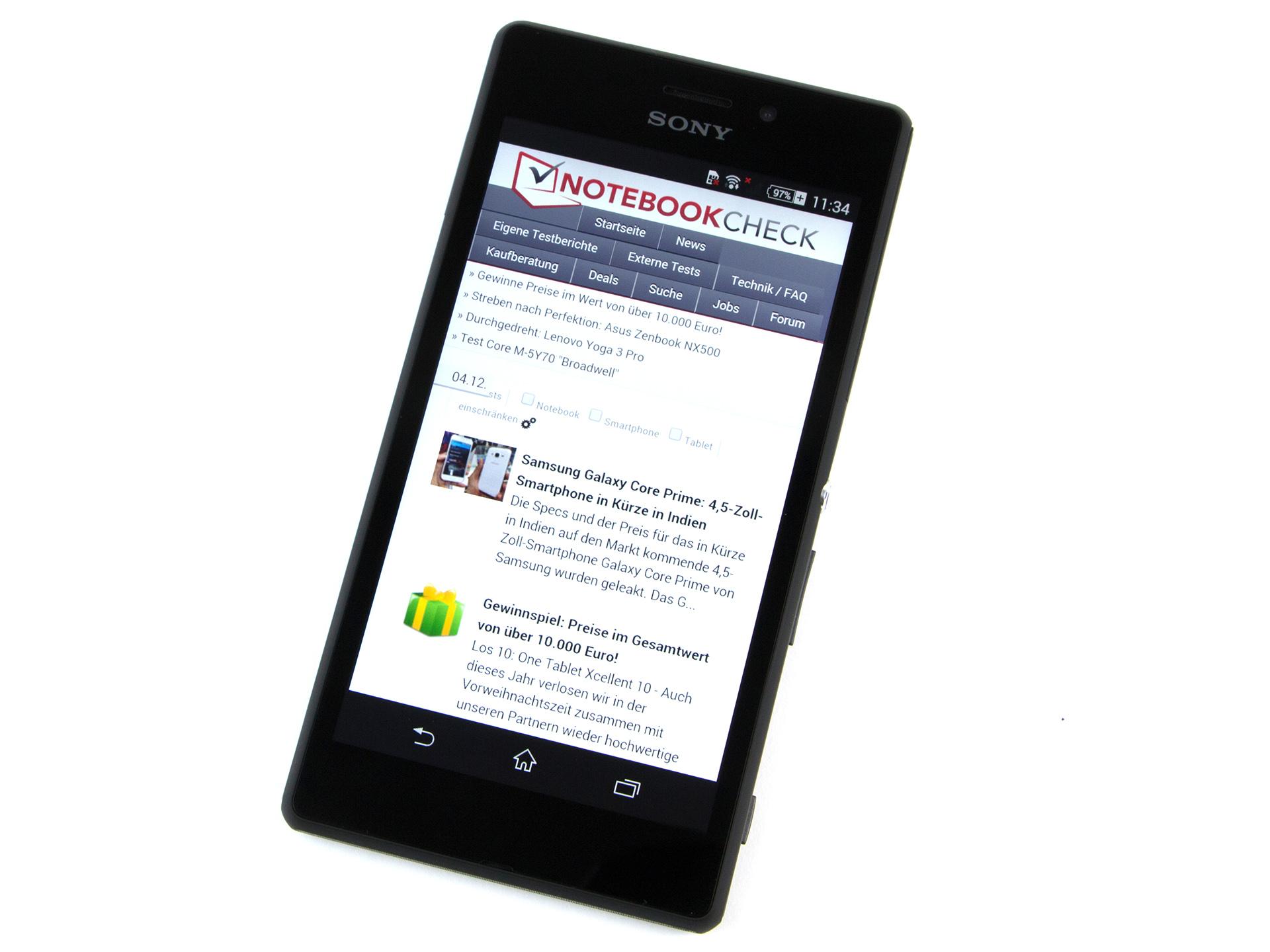Sony Xperia M2 Aqua Smartphone Review - NotebookCheck.net Reviews