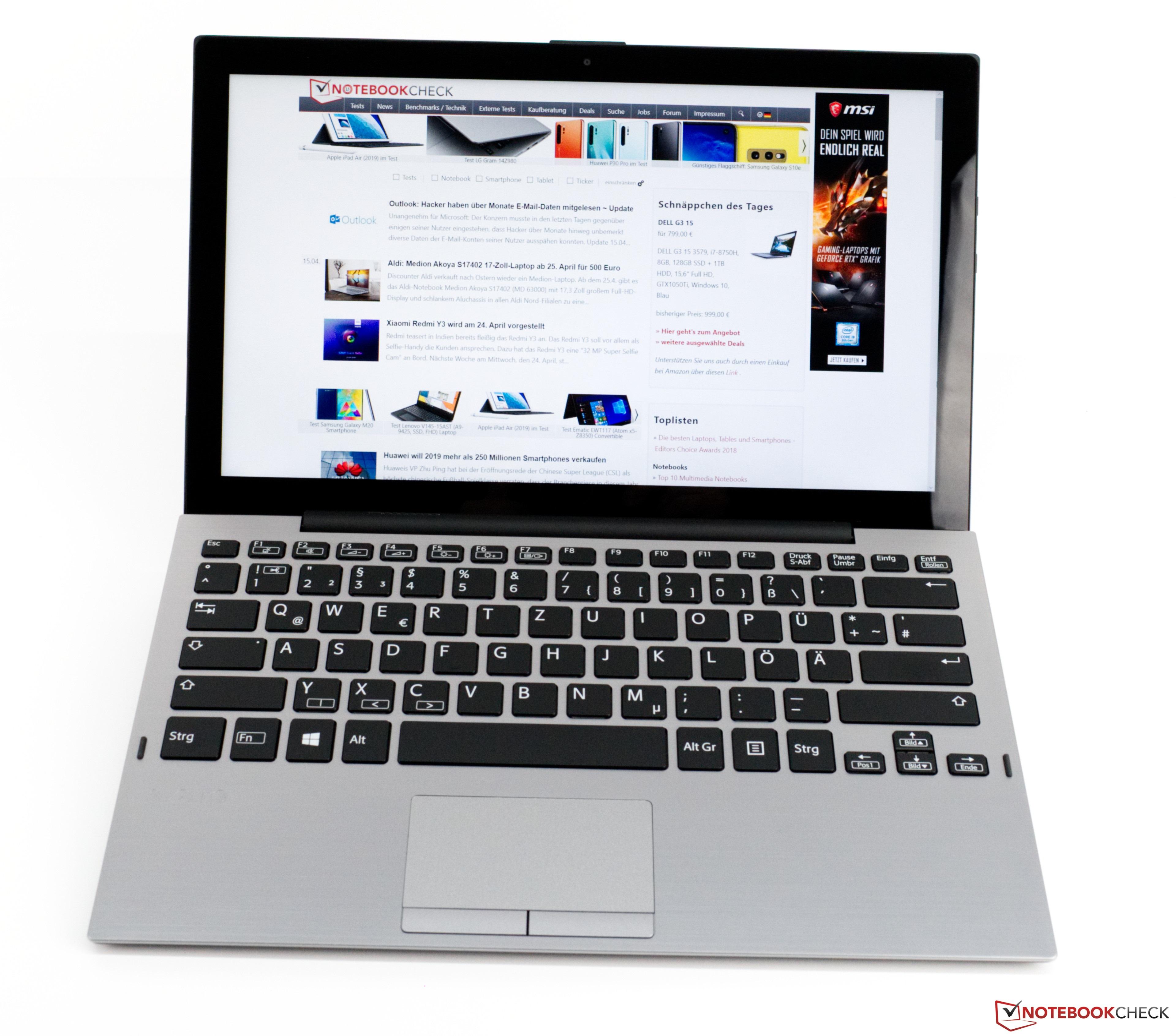 VAIO A12 (Core i7-8500Y, 16 GB RAM, 512 GB SSD, FHD) Convertible