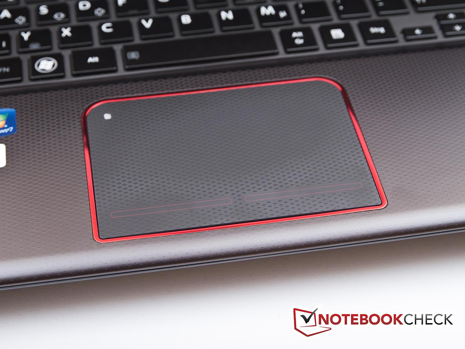 Touchpad Keyboard The Toshiba X870