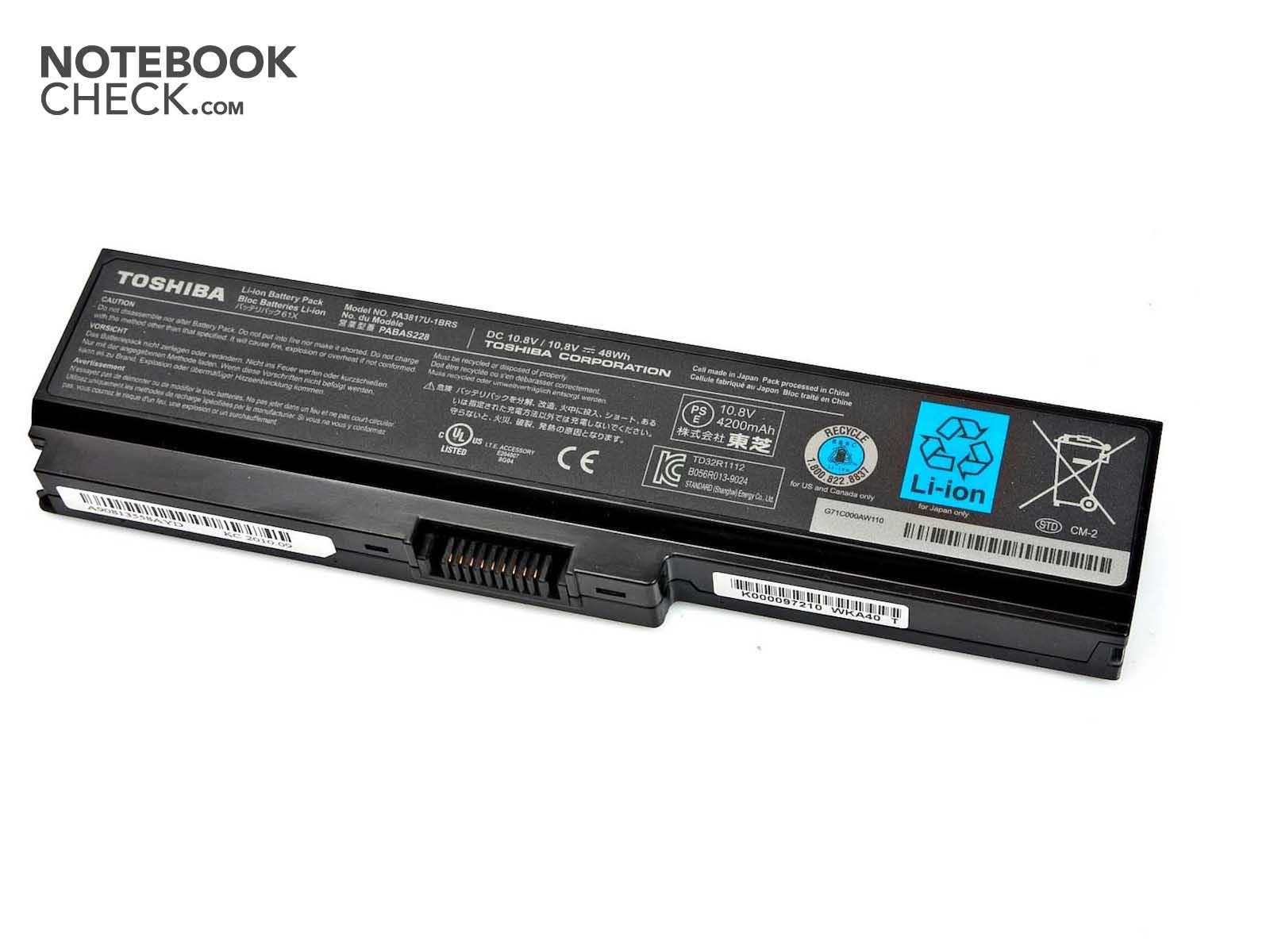 Review Toshiba Satellite C660 Notebook Notebookcheck Net