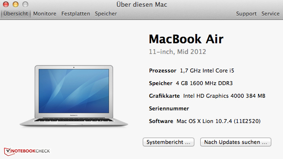 Review Apple Macbook Air 11 Mid 2012 Subnotebook