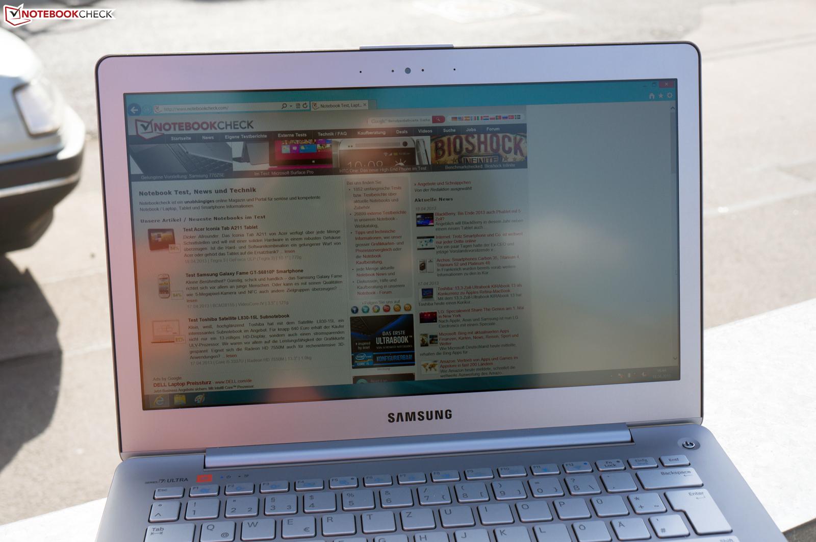 Notebook samsung jbl - Maximum Screen Brightness Outdoors