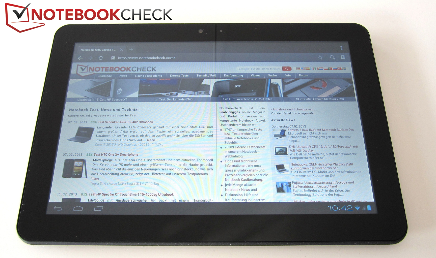Review Prestigio Multipad 101 Ultimate 3g Tablet Notebookcheck Touchscreen Advan I7 The Weighs 680 Grams