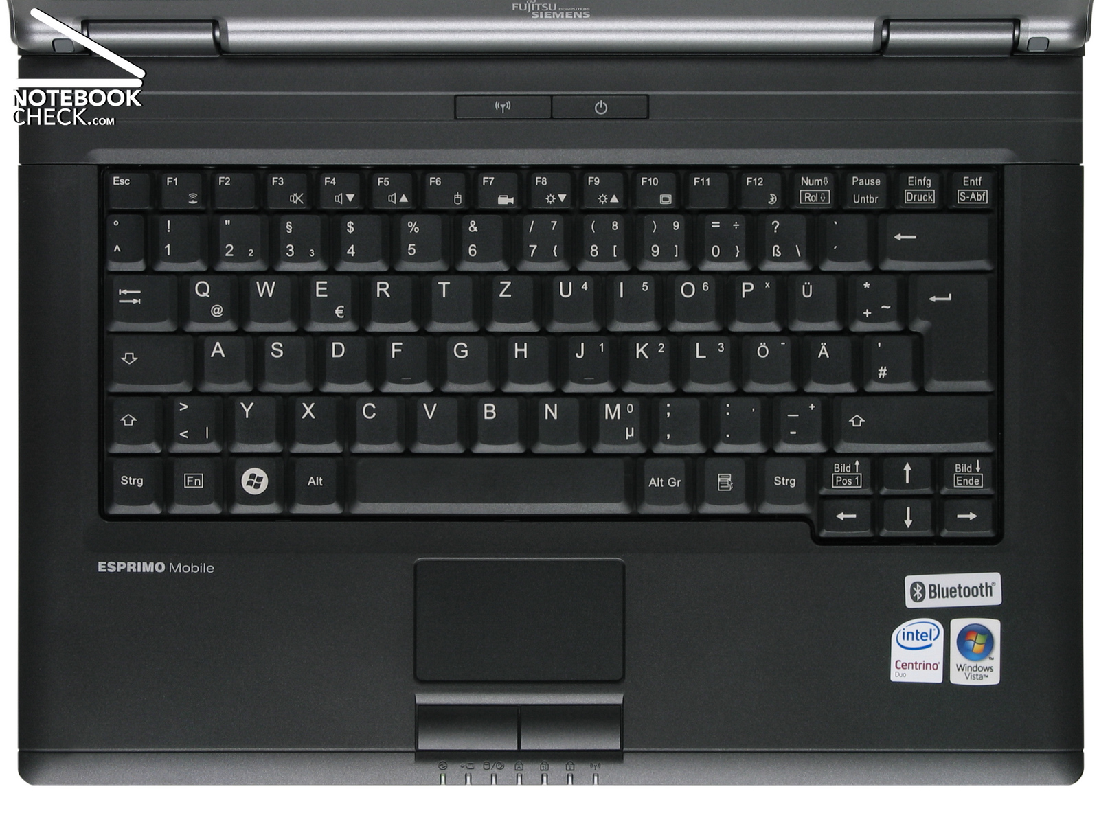 Review Fujitsu Siemens Esprimo Mobile M9400 Notebook