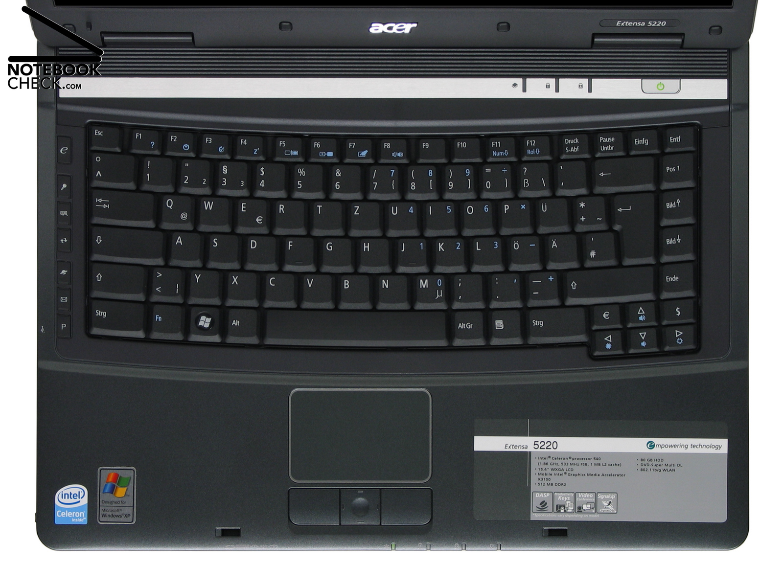 Review Acer Extensa 5220 Notebook