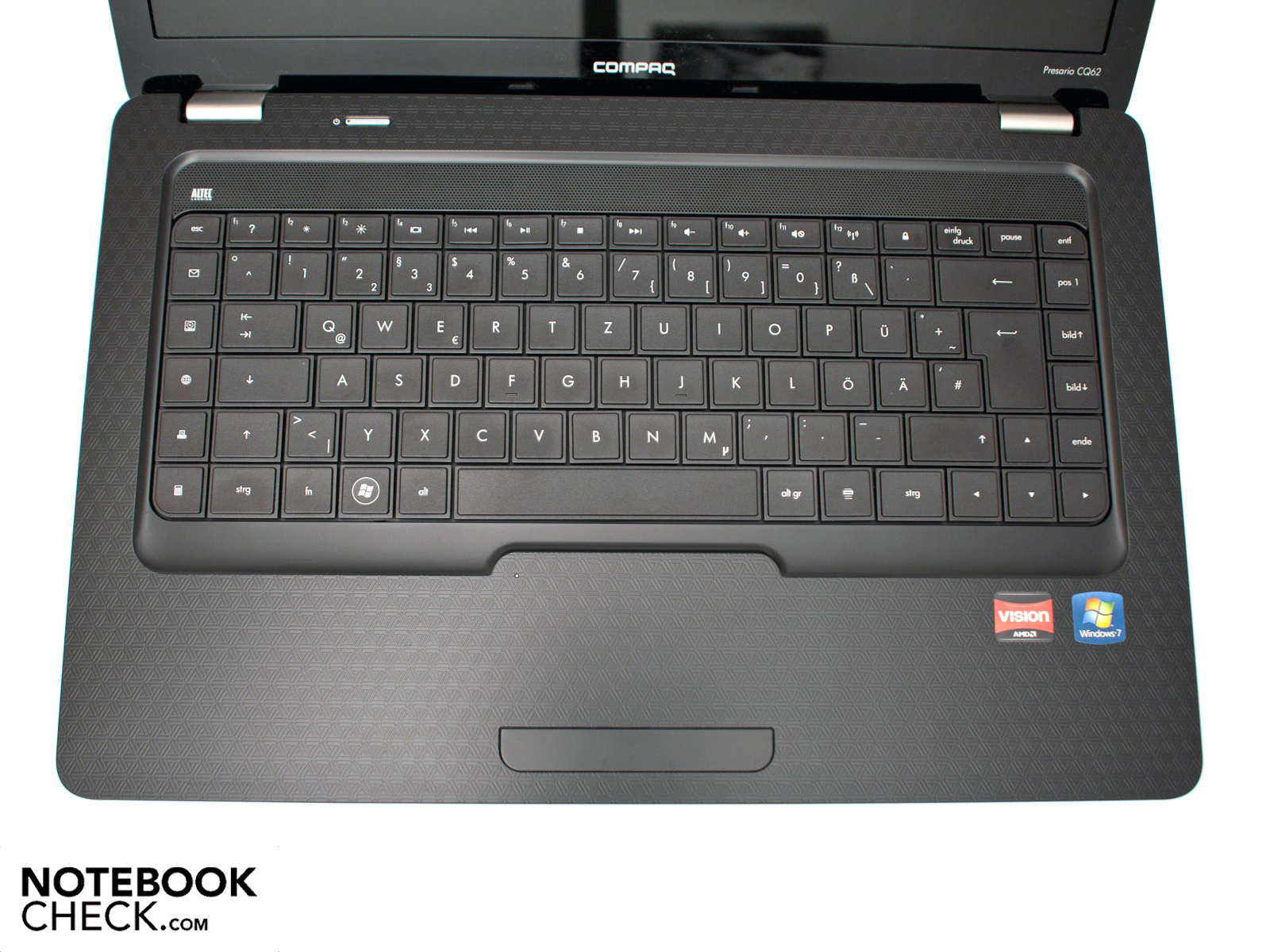 Review HP Compaq Presario CQ62 Notebook - NotebookCheck net