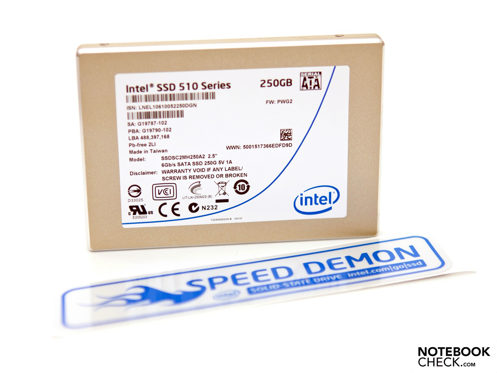 Review Intel 510 Series Elmcrest 250 GB Solid State Drive