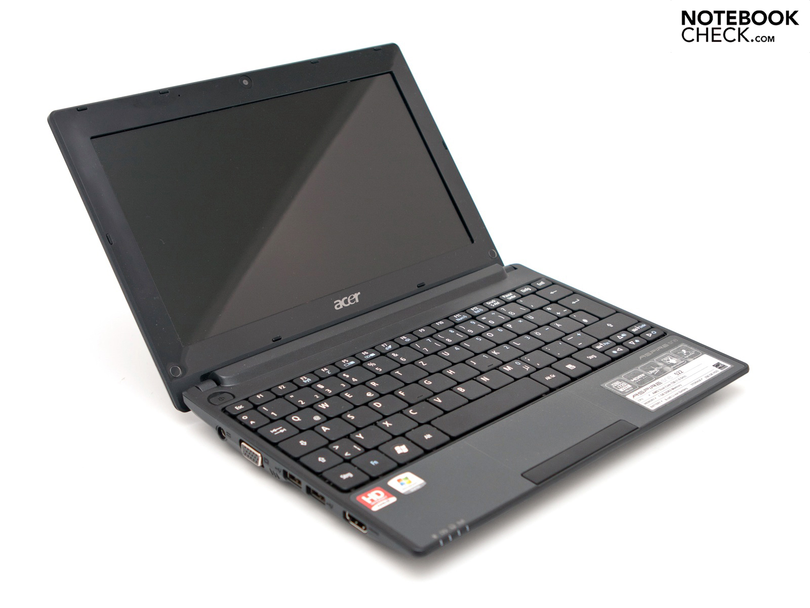 Review Acer Aspire One 522 Netbook Notebookcheck Net Reviews