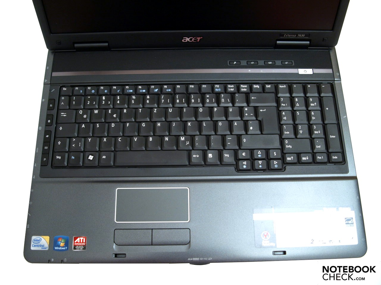 Review Acer Extensa 7630g Notebook Notebookcheck Net Reviews