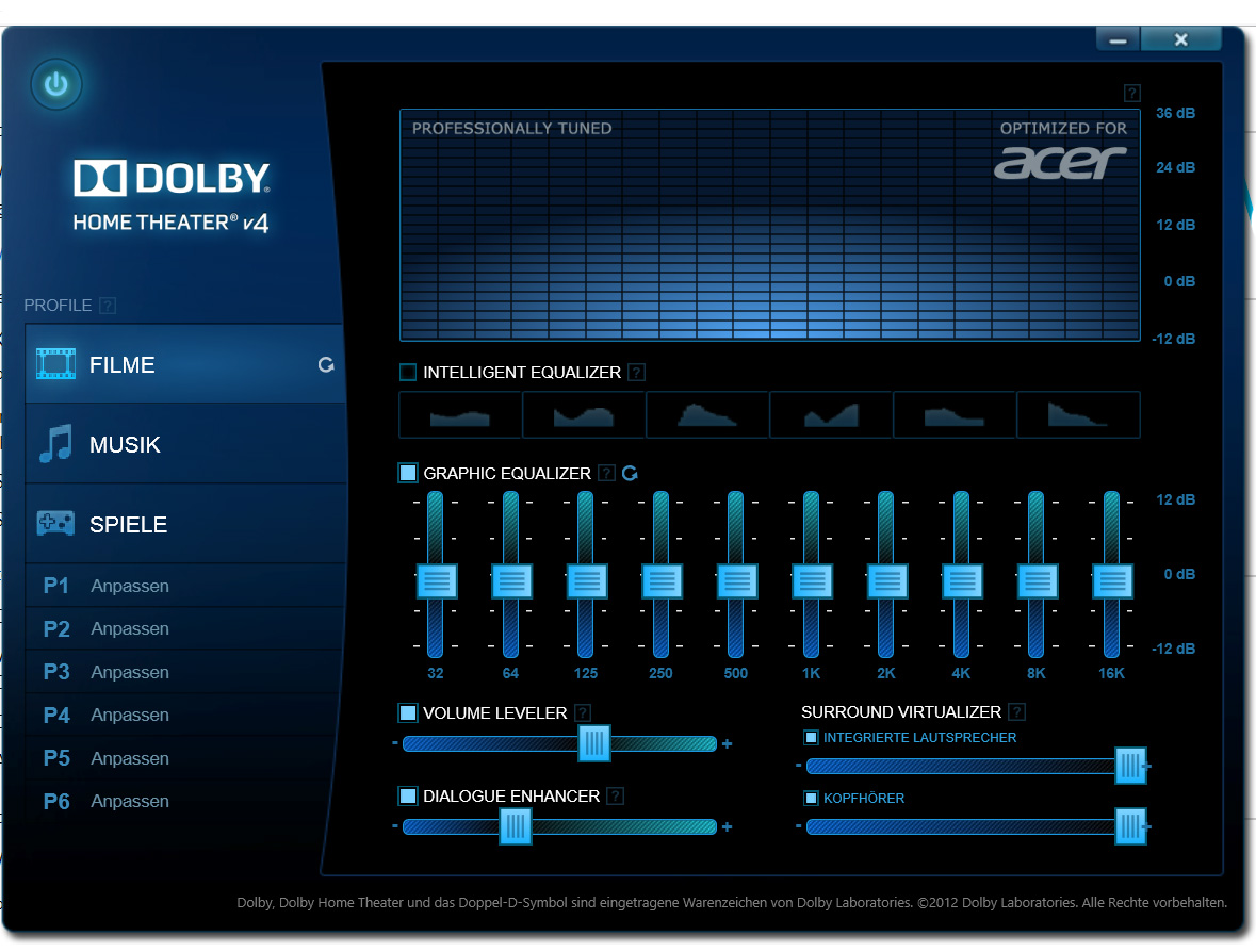 Dolby Home Theater® V4 PC