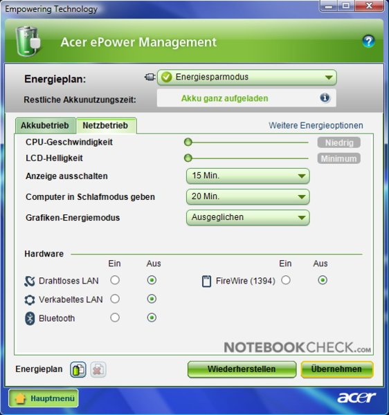 ACER MANAGEMENT VISTA EDATASECURITY TÉLÉCHARGER