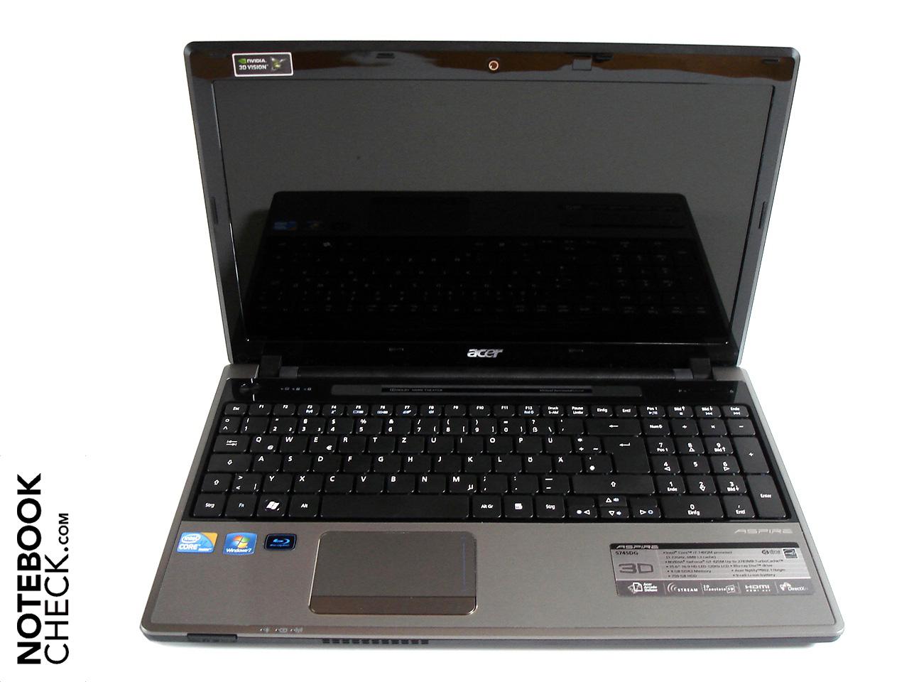 Review Acer Aspire 5745dg 3d Notebook Notebookcheck Net