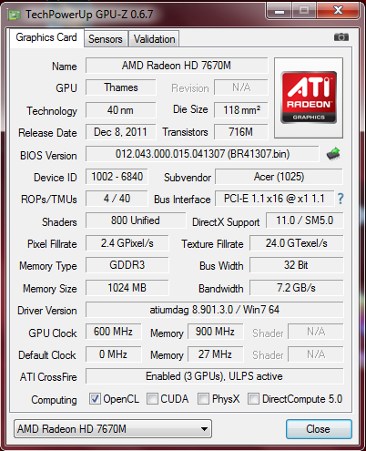AMD RADEON HD 7520G + 7670M DUAL DRIVER DOWNLOAD