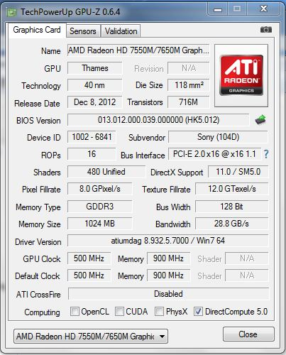 amd radeon hd 7640g drivers