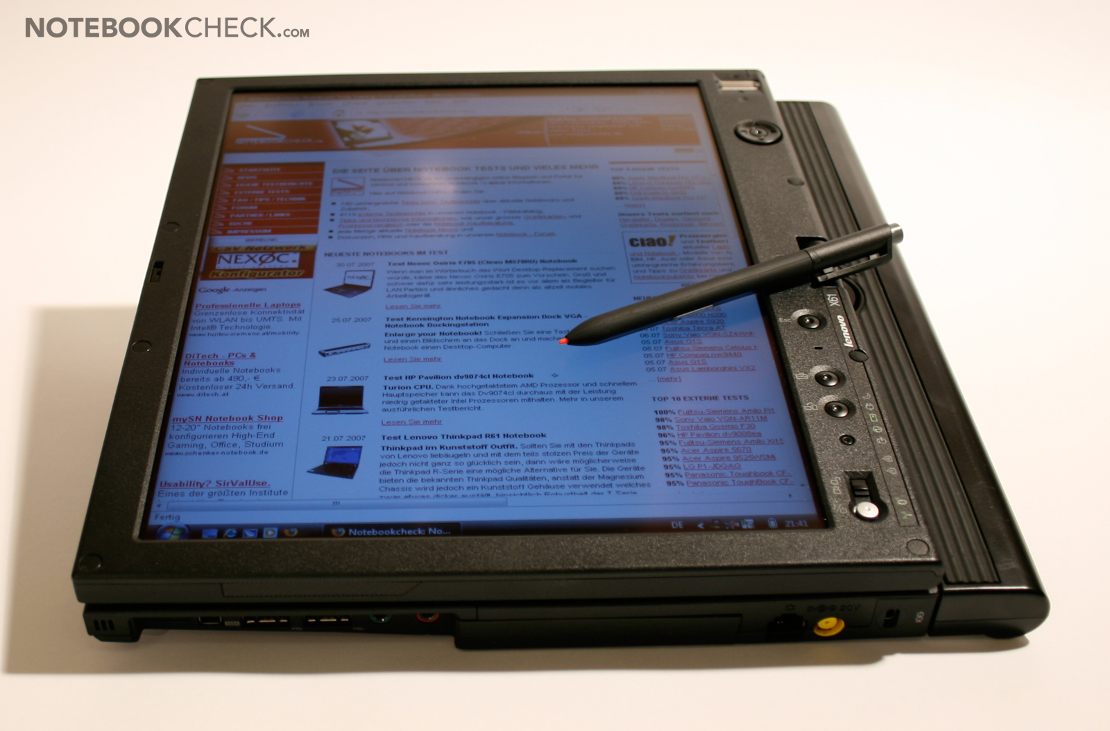how to connect thinkpad tablet to pc