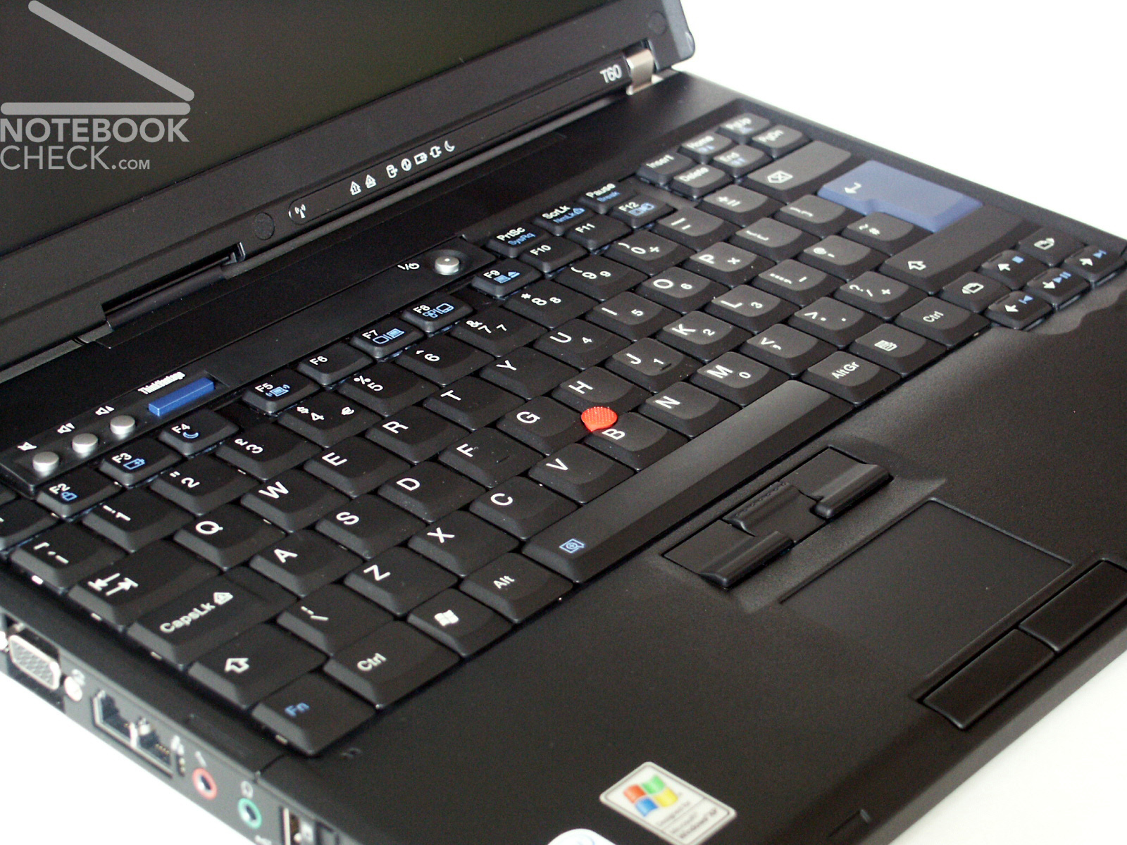 Review Ibm Lenovo Thinkpad T60 Notebookcheck Net Reviews